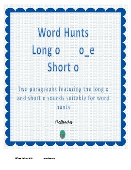 Word Hunt Long O o_e vs Short O
