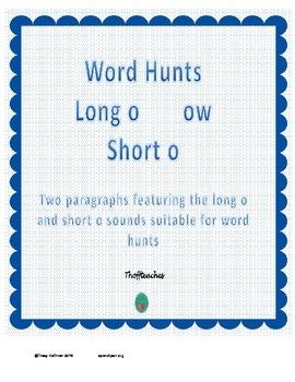 "Word Hunt Long o ""ow"" vs Short o"