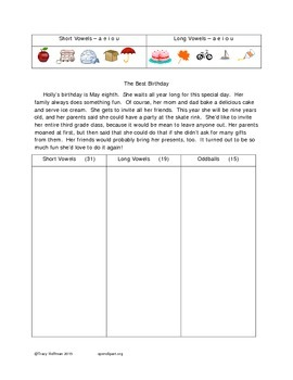 Word Hunt Long vowels vs Short vowels a, e, i, o, u