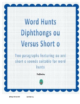 Word Hunt OU vs Short O