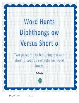 Word Hunt OW vs Short O