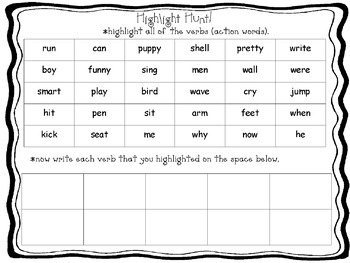 Word Hunt Phonics Center Pages