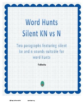 Word Hunt Silent KN vs N