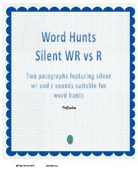Word Hunt Silent WR vs R