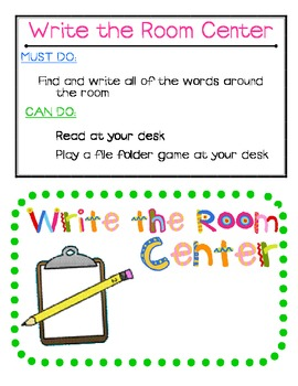 Word Hunt-Write the Room Center (All Year Long)
