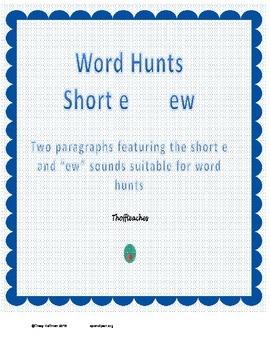 "Word Hunt ""ew"" vs short e"