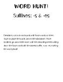 Word Hunt- suffix -s, -es