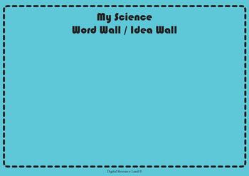 Word-Idea Walls - English, Science, Math, History, Civics, Geo, Art, Technology,