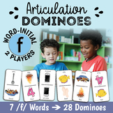 Word-Initial F for Speech Therapy - Articulation Dominoes