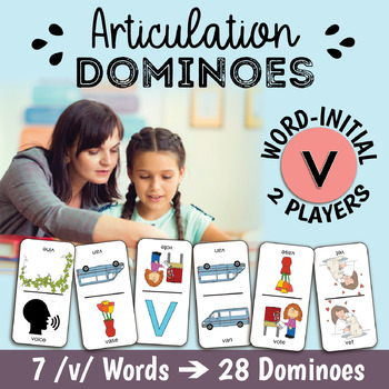 Word-Initial V for Speech Therapy - Articulation Dominoes