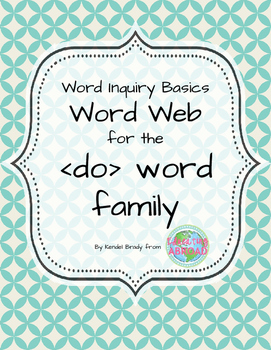 Word Inquiry Basics: Word web for the  word family