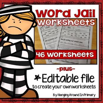 Worksheets for Word Work - Rule Breaker Words