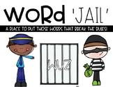 Word Jail---Word Rule Breakers-EDITABLE!