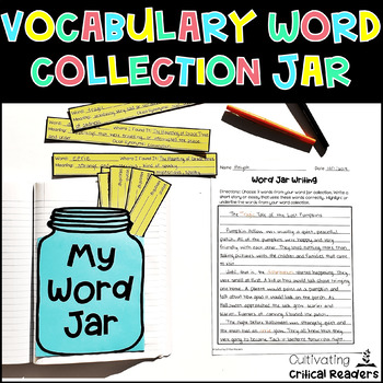 Word Jar Activity