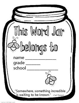 Word Jar,  Vocabulary Journal