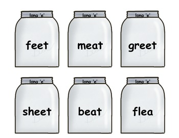 Word Jars - Vowels and More