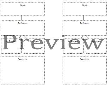 Word Journal- Vocabulary