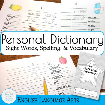 Word Journal with Primary Lines full letter-sized pages
