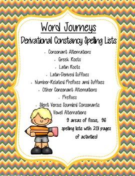 Word Journeys Spelling List - Derivational Constancy
