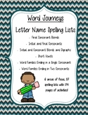 Word Journeys Letter Name - Spelling Lists and Activities