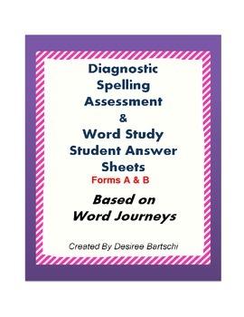 Word Journeys Student Assessment Sheets