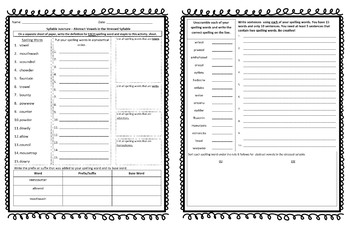 Word Journeys Syllable Juncture - Spelling Lists and Activities