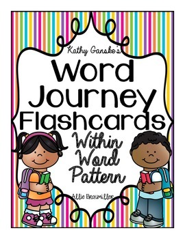 Word Journeys Within Word Pattern Word Study Flashcards