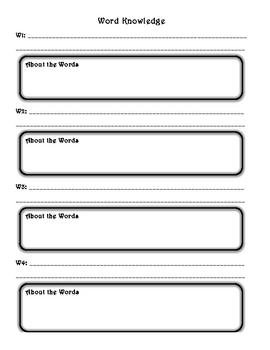 Word Knowledge Worksheet