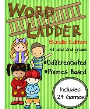 Word Ladder Bundle--All 1st and 2nd grade Ladders Included