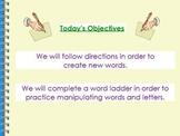 Word Ladder Flipchart