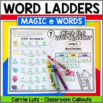 """Word Ladder Fun with Magic """"e"""""""