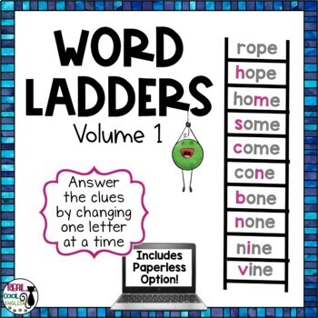Word Ladder Puzzle for Spelling and Vocabulary (Printable AND Digital Options!)