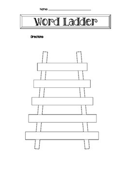 photograph relating to Word Ladders Printable titled Term Ladder Template Worksheets Training Materials TpT