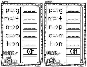 Word Ladder Warm-Ups {CVC Words}
