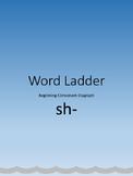 Word Ladder for Beginning Consonant Diagraph sh-