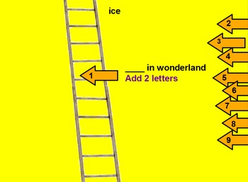 Word Ladder on Activinspire (Promethean)