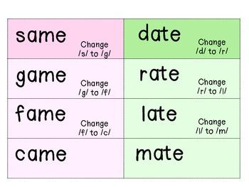 Word Ladders: CVCe