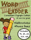 Word Ladders: Consonant Digraphs (1st and 2nd grade)