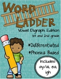 Word Ladders: Vowel Digraphs (1st and 2nd grade)