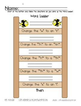 Word Ladders Digraphs-Blending Practice