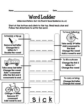Word Ladders: Short and Long Vowel (CVC and CVCe) Words