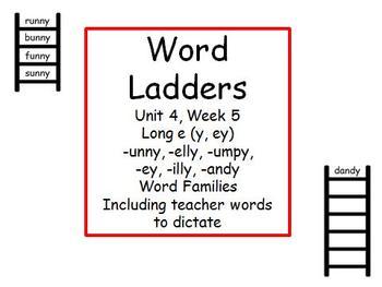 Word Ladders Unit 4