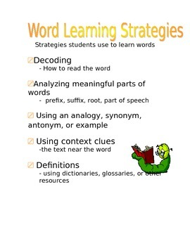 Word Learning Strategies Poster