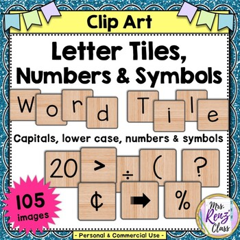 Word Tile Clip Art with 105 PNG images for Commercial or Personal Use