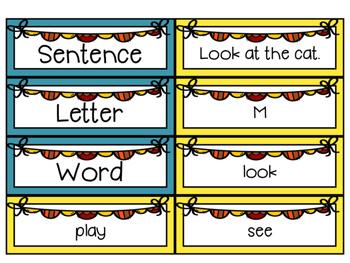 Word, Letter, or Sentence Sort