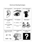 Word Level Strategies for Guided Reading