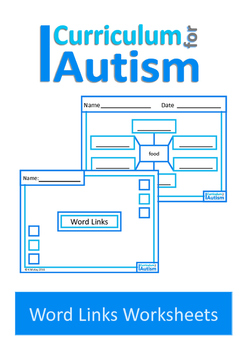 Vocabulary Categories Associations Worksheets, Autism, Special Education