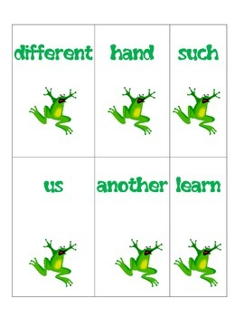 Word List 5 and 6 for First Grade