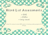 Word List Assessments