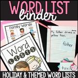 Word List Binder